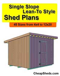 Lean To Plans