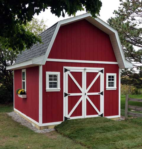 Gambrel Barn Shed Plans With Loft 9 97