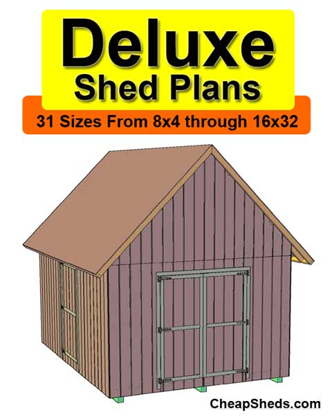Deluxe gable shed plans for Gable barn plans