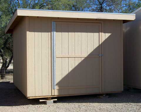 Lean To Style Single Slope Shed Plans With Porch 11 95