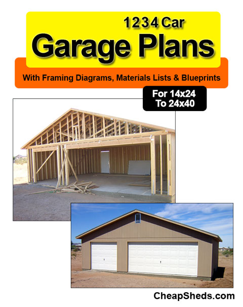1 2 3 4 Car Garage Plans With Blueprints