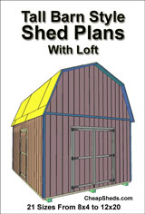 Tall barn style shed plans