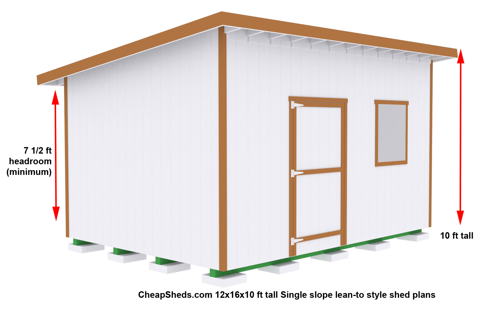Verana buy 10 x 12 shed for Lean to plans free