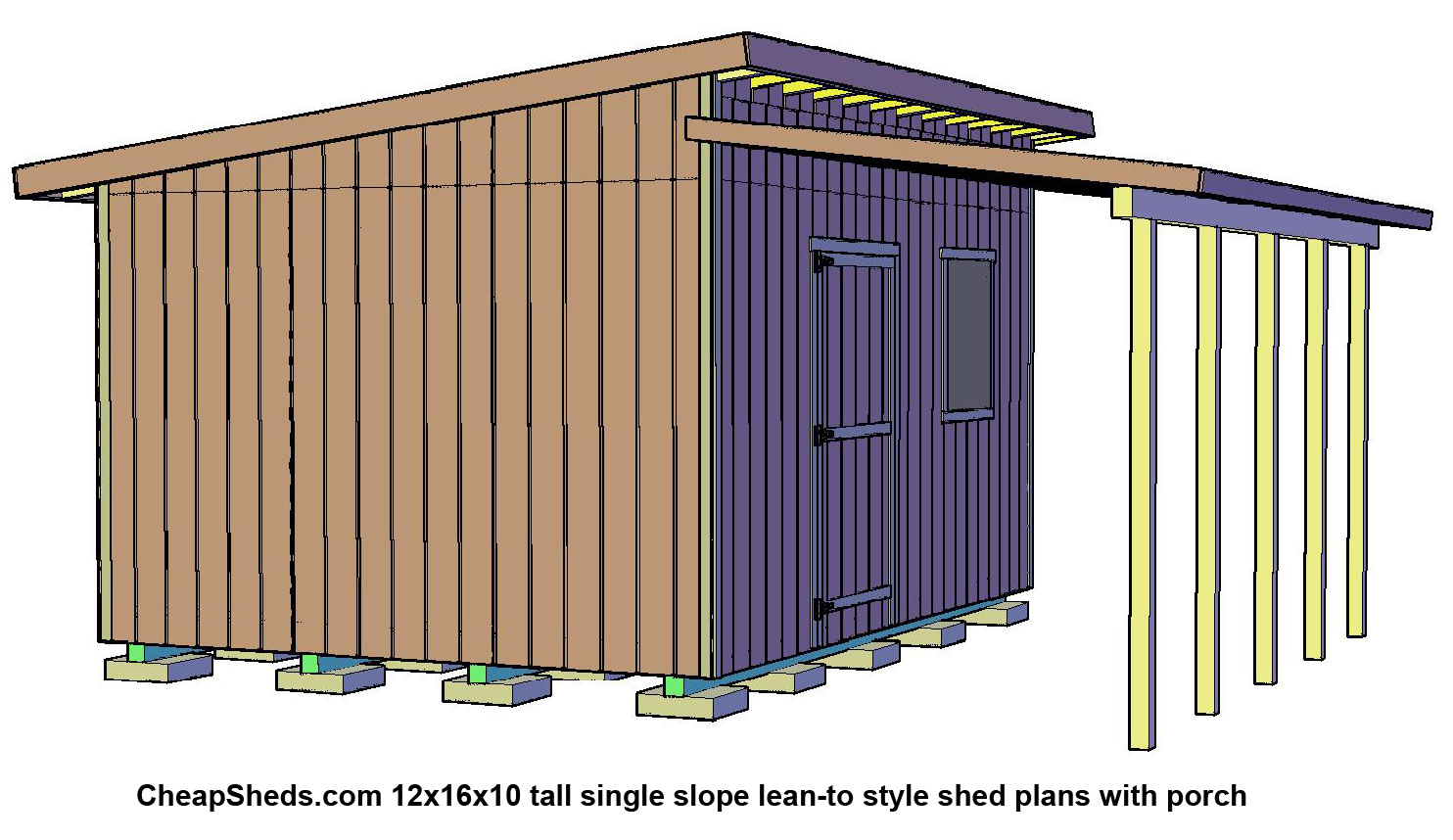 All con how to build a large shed for Lean to style house plans