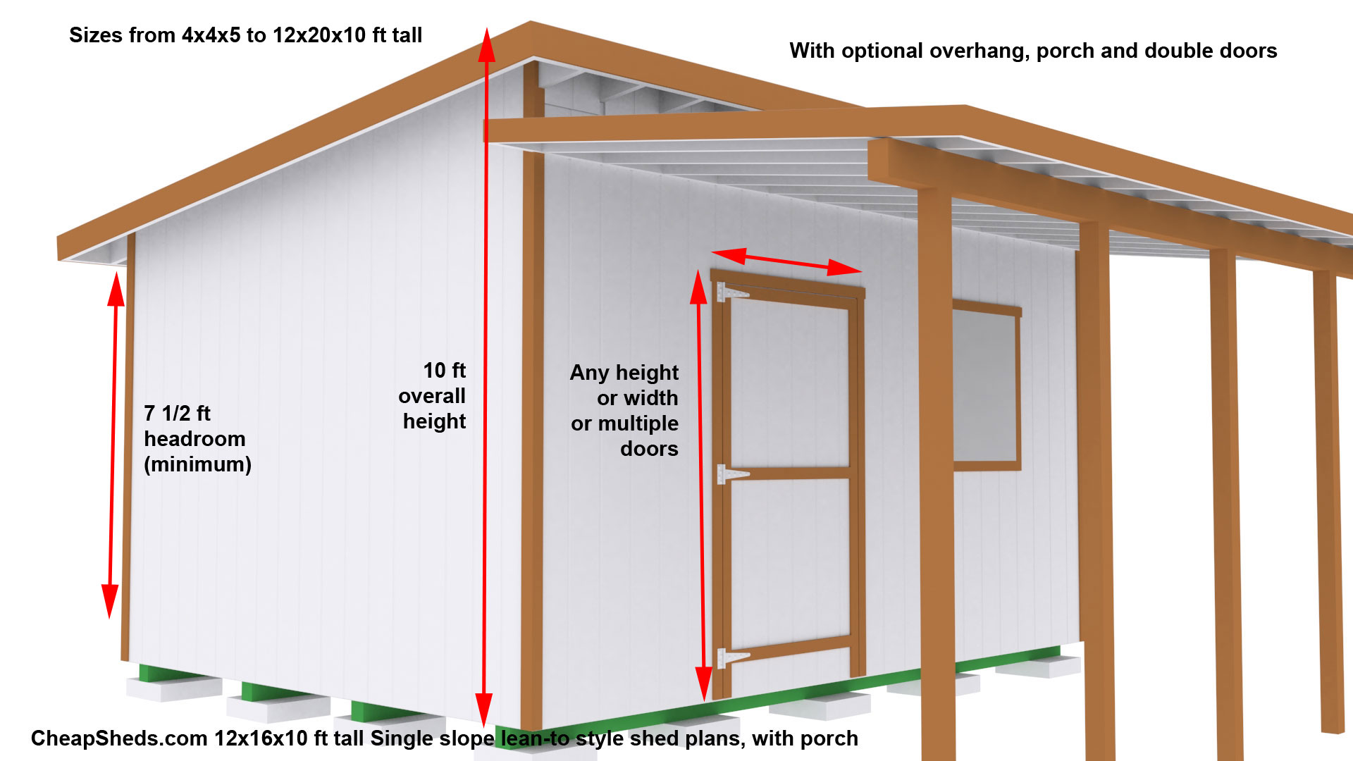 4 x 4 shed plans free joy studio design gallery best for Lean to plans free