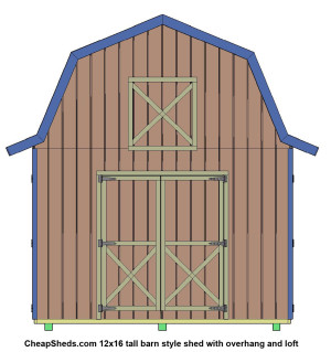 Click here to see my photo gallery of tall barn style sheds