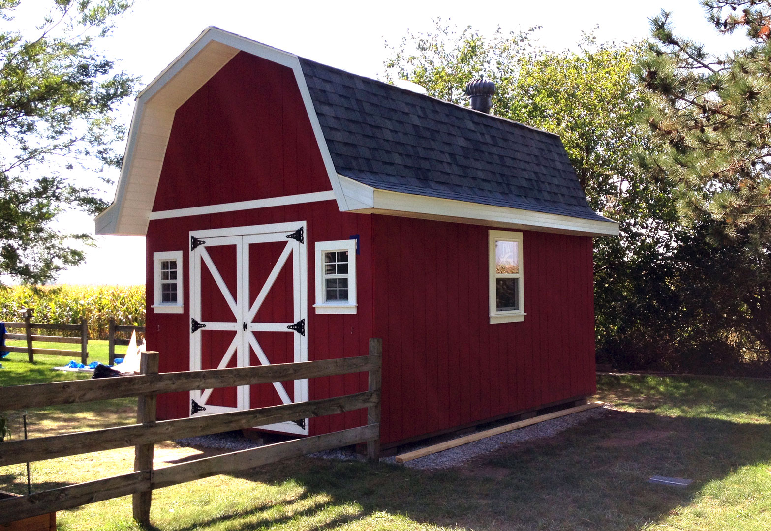 How to finish gambrel barn joy studio design gallery for Shed cupola