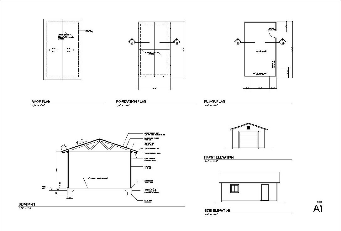 How to build and frame a 1 2 3 4 car garage plans for Garage door plans free