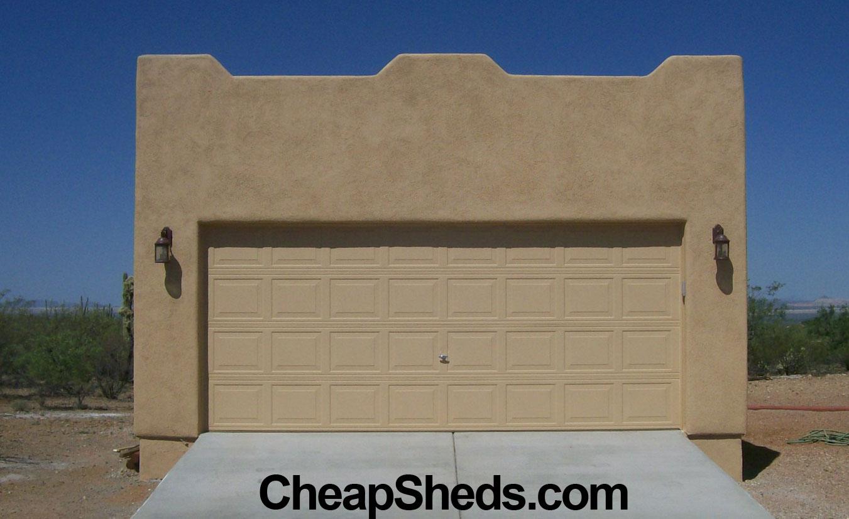 Garage photo galleries for Cheap 2 car garage