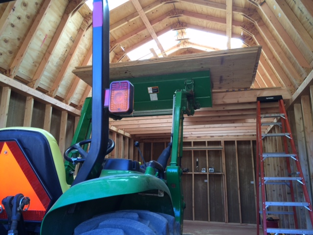 Barn Style Sheds With Loft : Barn style gambrel shed construction photo series