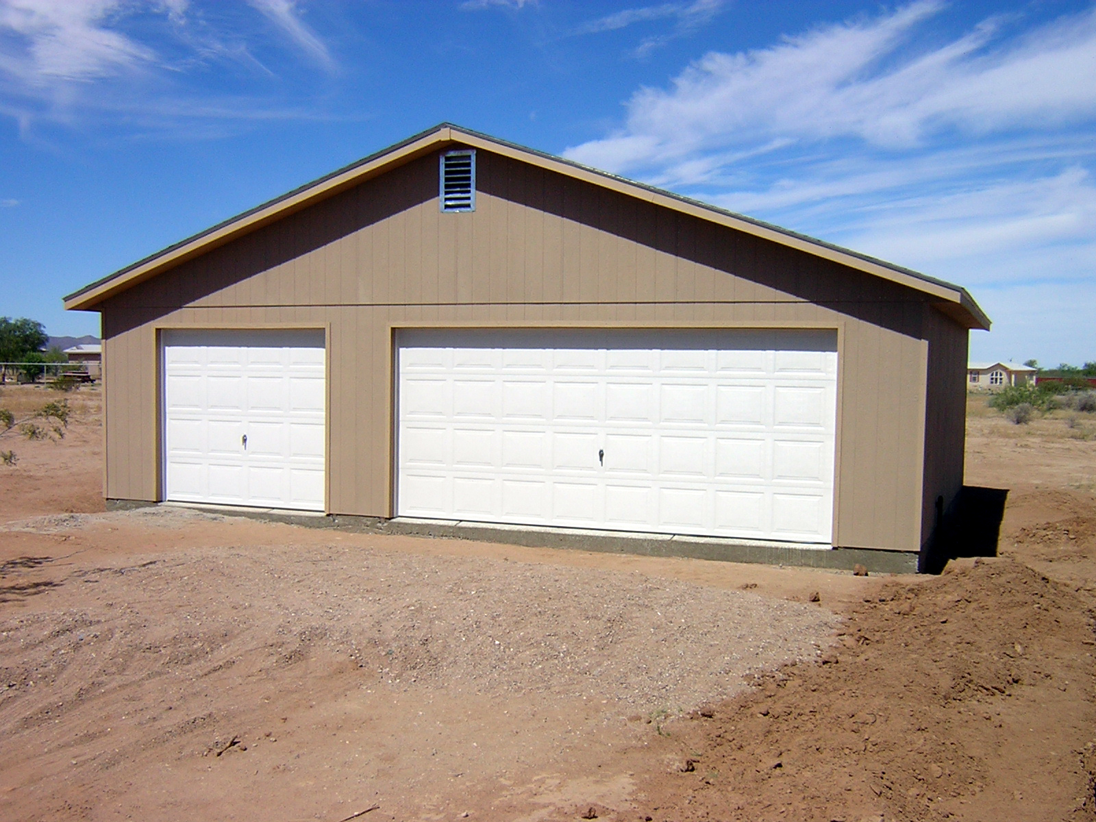 Garage photo galleries for Two door garage
