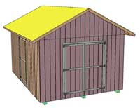 Deluxe Shed Front View
