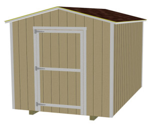 8x12 with 3 1/2 inches of overhang and 7ft sidewalls