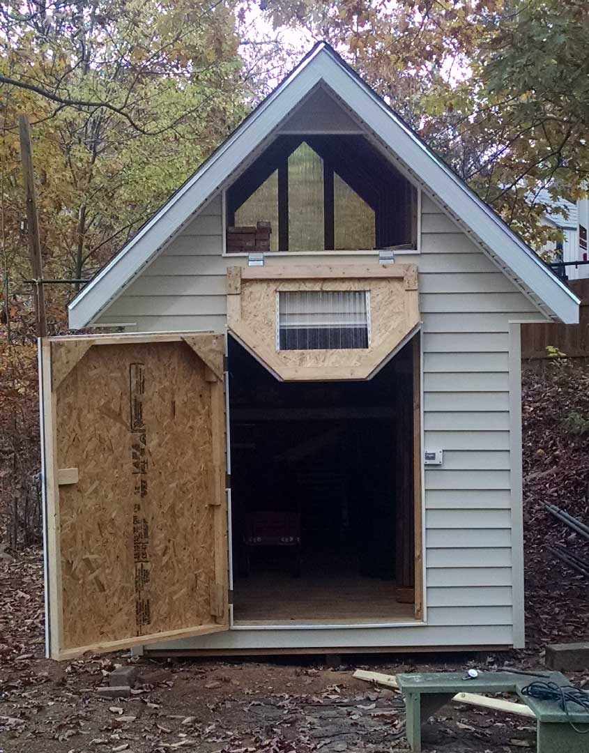 Deluxe gable roof shed photo gallery for Shed designs with loft
