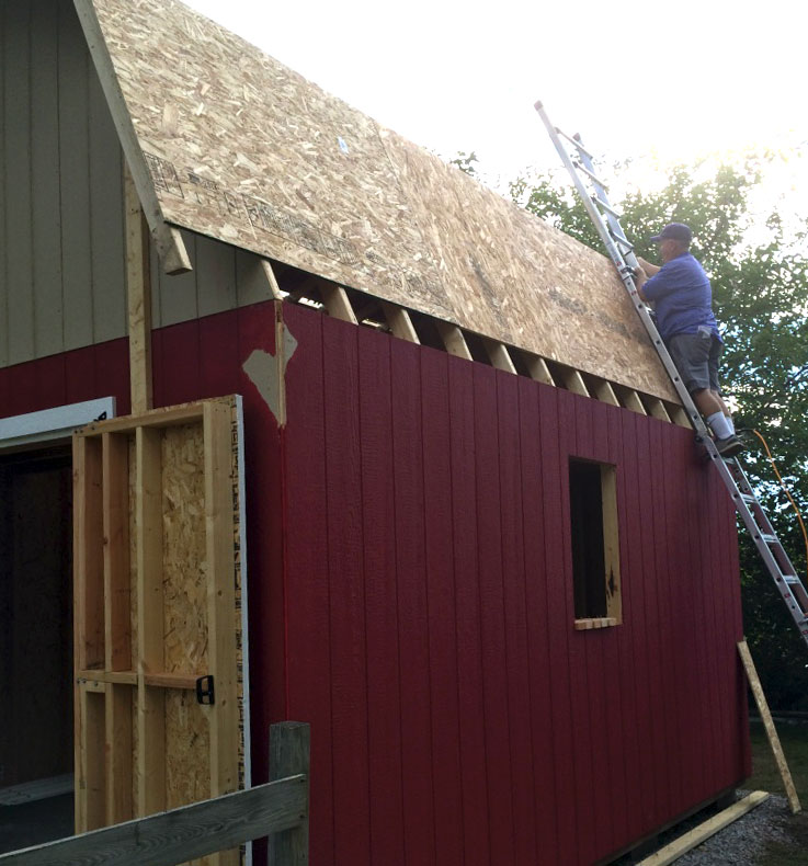 Pin shed truss gambrel mini barn on pinterest Gambrel style barns