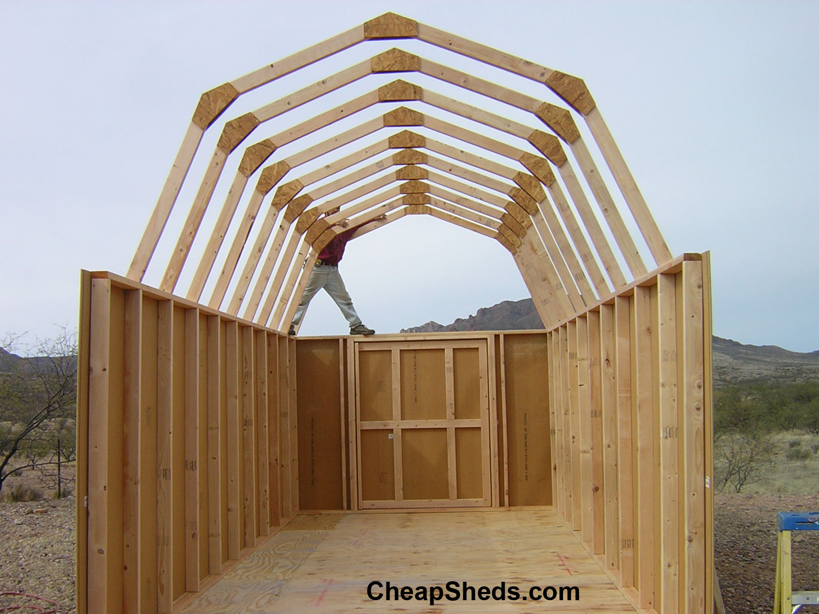 Desember 2017 newshed plans for How to build barn style roof trusses