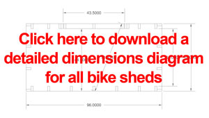 This 11 page PDF download includes dimensions for all my bike sheds.