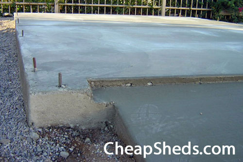 Build your shed on a concrete slab for How to build a garage floor