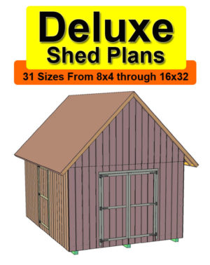 Buy 12x18 deluxe gable roof shed plans free materials for 18 x 24 shed plans