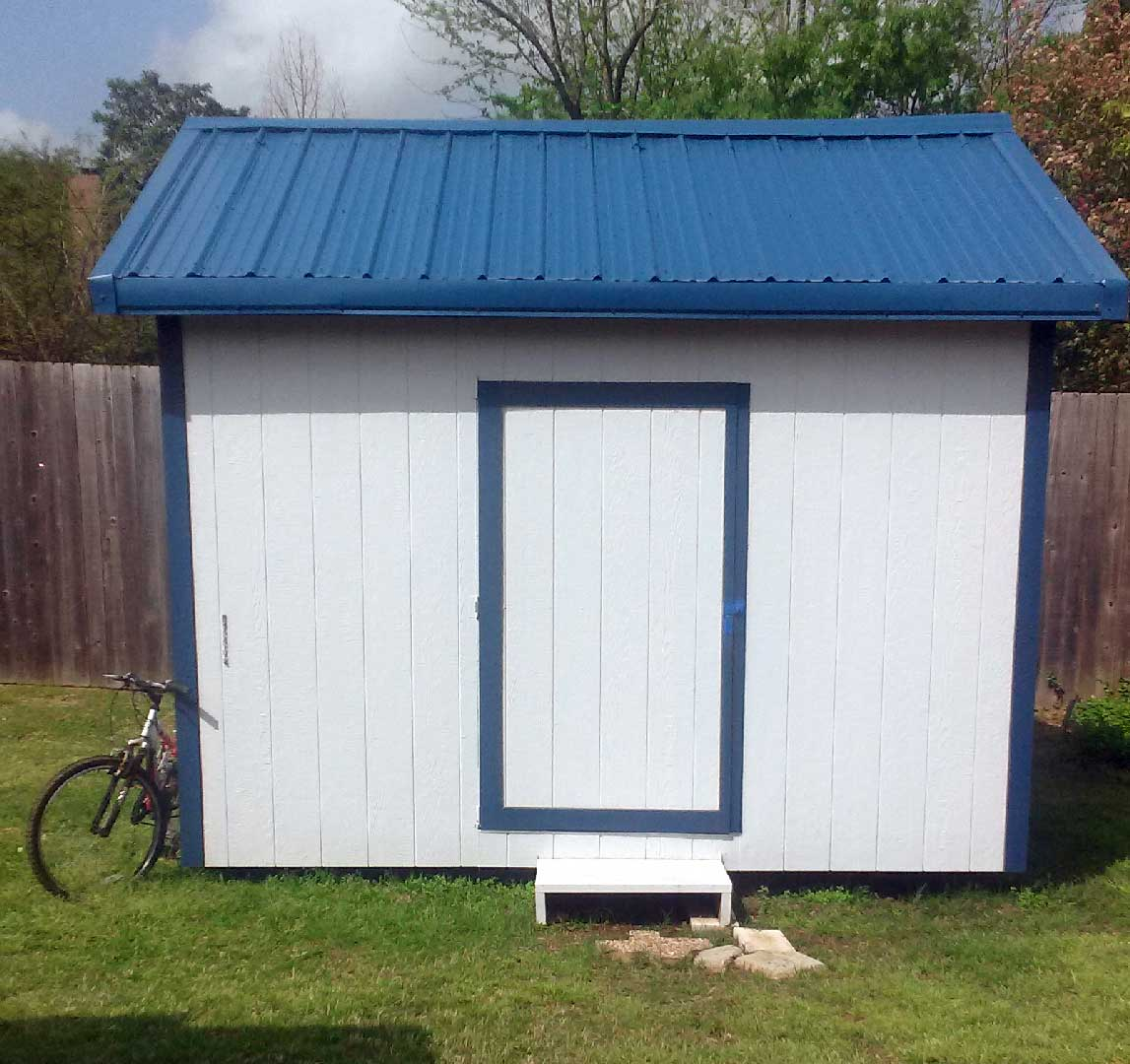 Deluxe gable roof shed photo gallery for Roofing a shed style roof