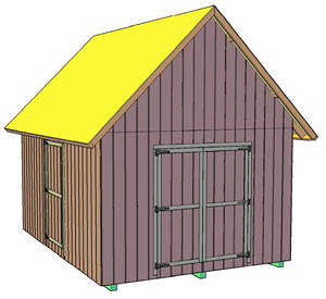 Build your own shed shedhelpers for Gable style shed