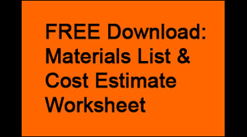 FREE Download: Materials List & Cost Estimate Worksheet