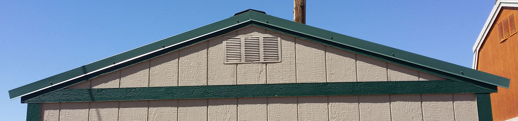 Gable Roof Installation : How to install a metal roof instead of shingles on your shed