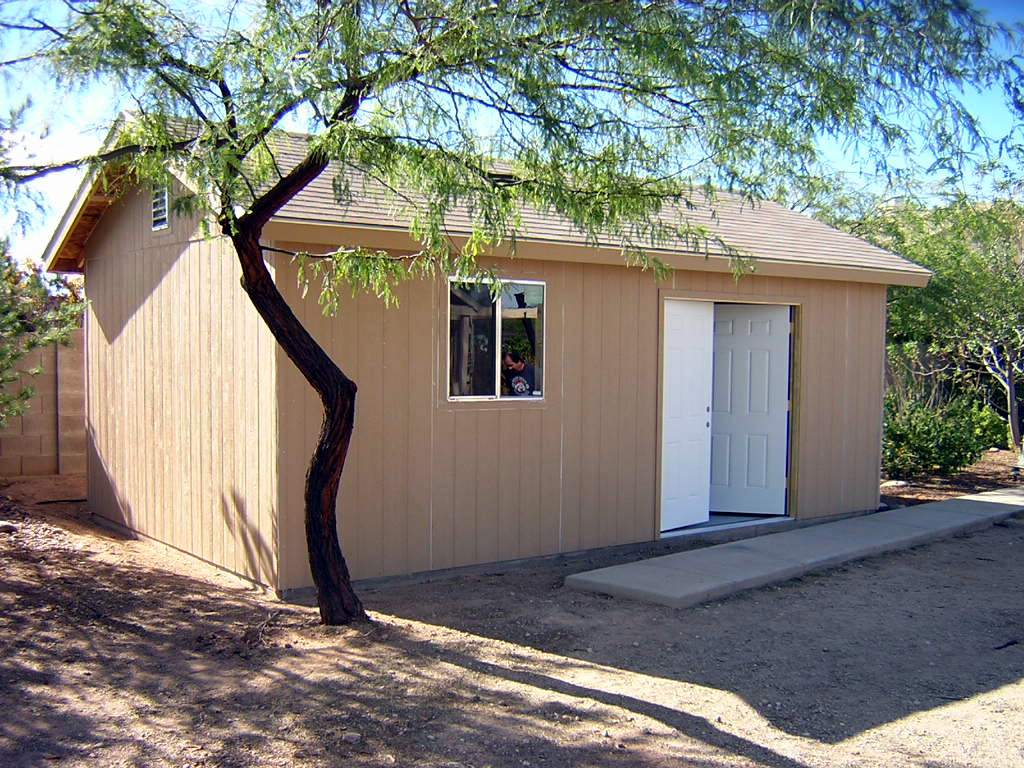 Garage photo galleries for Cheap large sheds