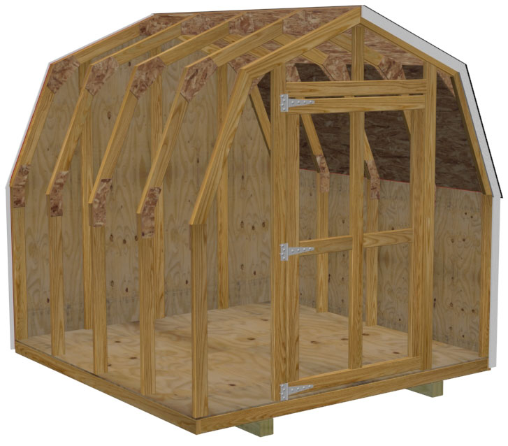 8 8 mini barn shed plans for Mini barn plans