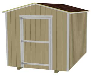 This 8x12 is shown with 3 1/2 inches of overhang on all 4 sides.