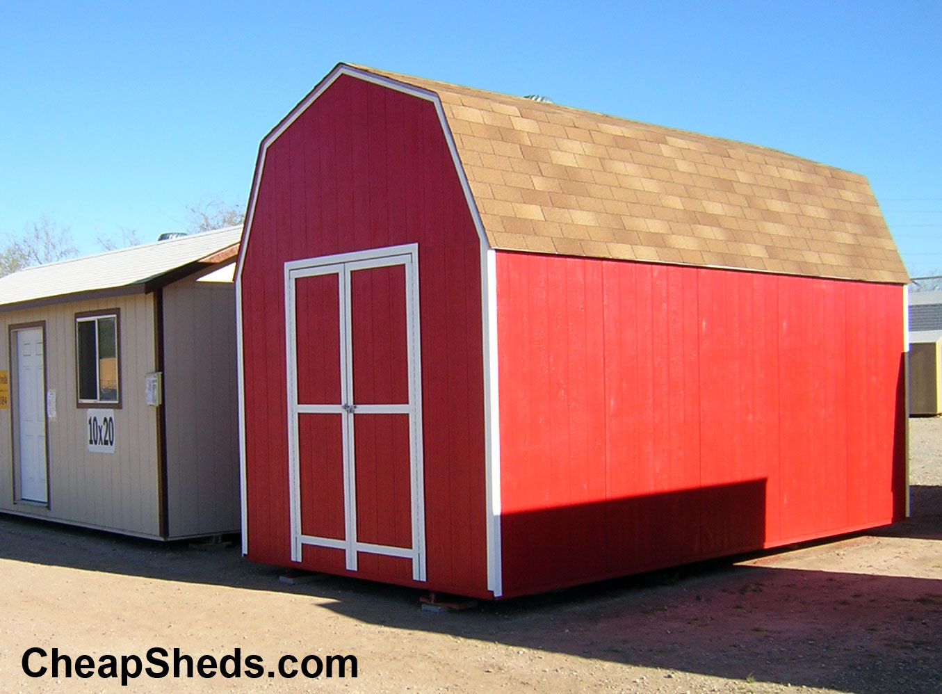 Tall gambrel barn style sheds for Barn style buildings