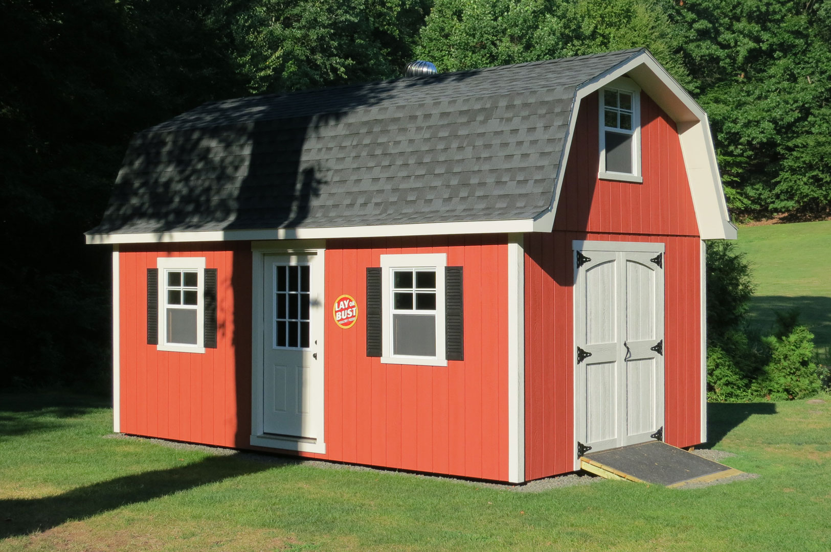 Tall gambrel barn style sheds for Shed cupola