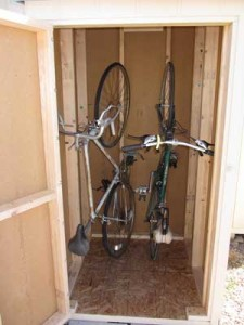 vertical bike storage shed